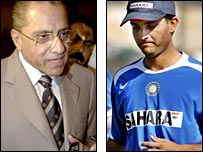 Former India board boss Dalmiya and former captain Ganguly