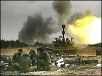 Israeli troops on the border