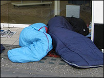 People sleeping rough