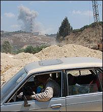 Smoke from an Israeli air strike