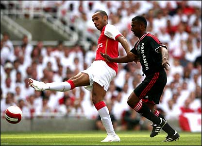 Thierry Henry scores for Arsenal