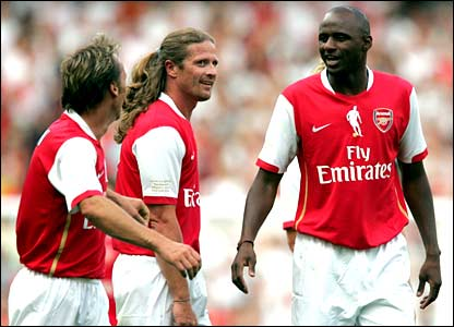 Lee Dixon, Emmanuel Petit and Patrick Vieira