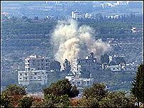 القصف الإسرائيلي