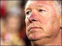 Alex Ferguson, t�cnico del Manchester United
