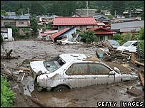 Mudslide in Nagano, Japan, 20 July