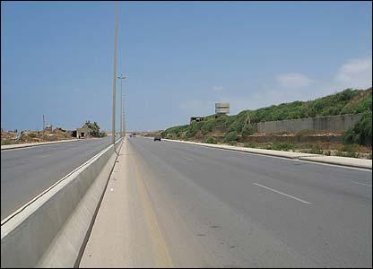 Coastal road south of Beirut, Lebanon
