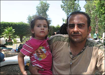 Ahmed Bayashi, refugee from southern Lebanon, in Beirut
