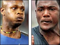 Asafa Powell and Justin Gatlin