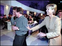 Jill Dando on set