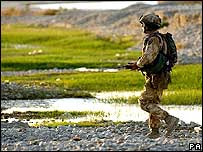 UK soldier in Helmand province