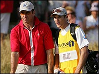Nick Faldo with son Matthew