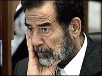 Former Iraqi leader Saddam Hussein (file picture)