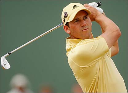 Sergio Garcia in action
