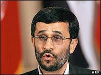 File picture of Iranian president Mahmoud Ahmadinejad