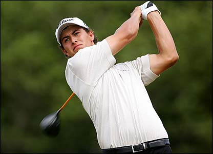 Australia's Adam Scott in action