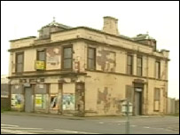 Run-down pub in Ardrossan
