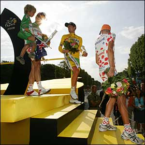 The winners' podium in Paris
