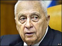 File picture of former Israeli PM Ariel Sharon