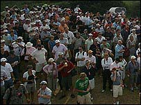 Fans at the Open