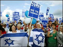 Pro-Israel demonstrators