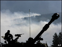 Israeli tank near border with Lebanon