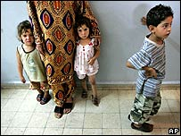 Displaced children at a centre in Sidon