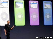 Steve Jobs debuts iPod nano, Getty