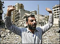 Man in Beirut suburbs