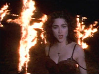 A still from Madonna's Like a Prayer video