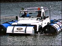 Amphibious Land Rover