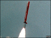Pakistani short-range nuclear capable missile