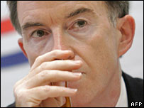 EU trade chief Peter Mandelson in Geneva