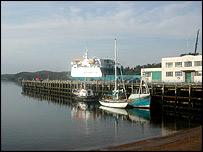 Stornoway harbour   Image: Paul Rincon/BBC