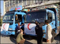 Syrian aid drivers