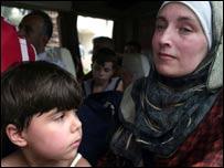 Lebanese evacuees from Tyre