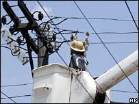 Electricity worker