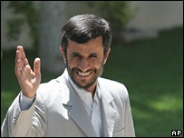 Iranian President Mahmoud Ahmadinejad (file photo from 5 July)