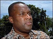 Nzanga Mobutu of UDEMO party (Union for Democratic Mobutuists)