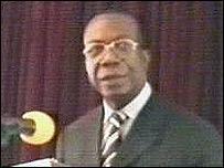 Gerard Kamanda wa Kamanda of FCN party (still taken from RTNC TV)