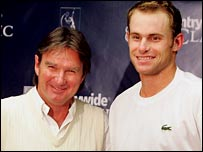 Jimmy Connors and Andy Roddick in Los Angeles