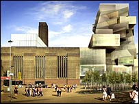 Artist's impression of extended Tate Modern building