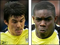 Joey Barton (left) and Micah Richards