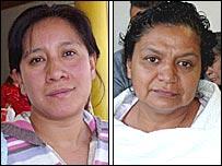 Dos pacientes del Hospital GEA Gonz�lez, Olivia Ch�vez y Luz del C�rmen Beltr�n.