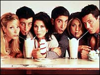 The cast of TV show Friends