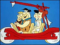 Characters from animated series The Flintstones