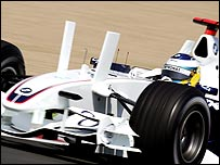 BMW Sauber's controversial winglets
