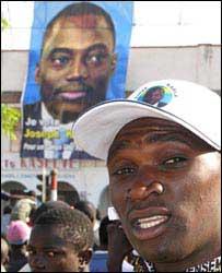 Gideon, a supporter of President Joseph Kabila