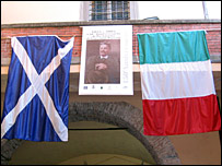 Scottish and Italian flags
