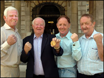The Olympic boxing medallists met up at Belfast City Hall on Tuesday