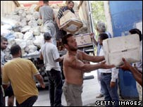 Red Cross aid delivered in Tyre